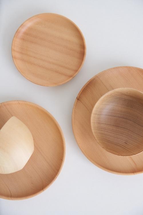 酸枣弧身木碗